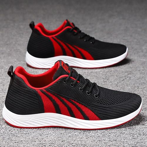 Giày thể thao nam nhẹ thoáng khí JFZ - Viền đỏ