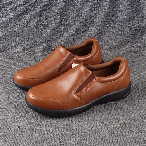 Giày lười da nam trung niên đế mềm FTC - Màu nâu