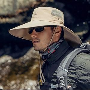 Mũ chống nắng nam vành rộng WODONBLE - Màu be