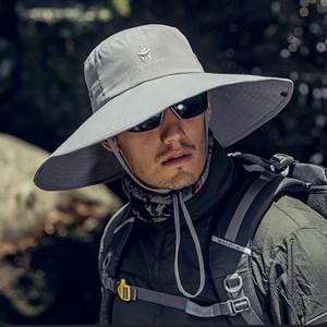 Mũ chống nắng nam vành rộng WODONBLE - Xám nhạt