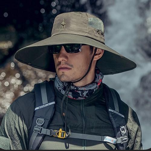 Mũ chống nắng nam vành rộng WODONBLE - Xanh quân đội