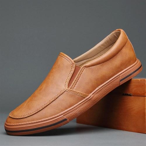 Giày slip on da nam BOD - Nâu sáng