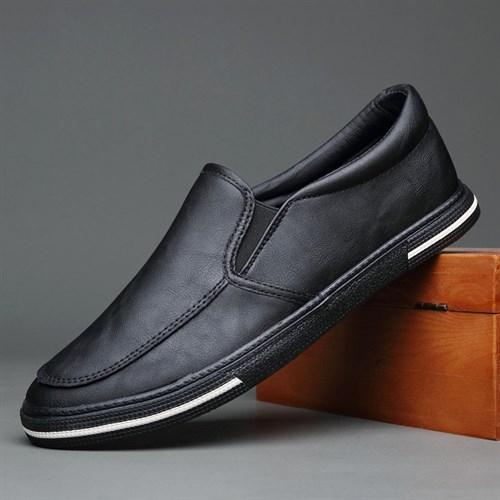 Giày slip on da nam BOD - Màu đen