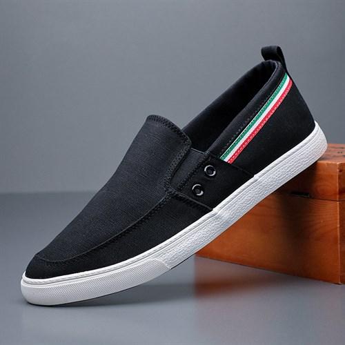 Giày slip on vải nam BOD - Màu đen