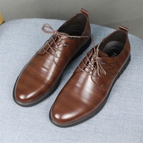 Giày nam da thật HLA - Màu nâu